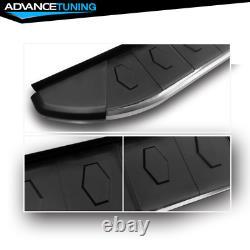 For 09-15 Honda Pilot Sport Side Step Nerf Rail Bar Running Board Silver Black
