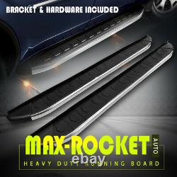 For 16-21 Honda Pilot OE Style 6 Running Boards Side Steps Nerf Bars Silver+BLK