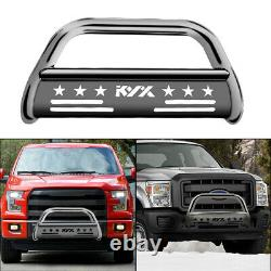 For 20042020 Ford F-150 Pickup Bull Bar Bumper Guard Brush Push Grille Silver