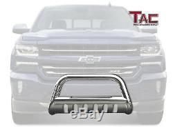 For 2007-2018 Silverado/Sierra 1500 3 Chrome Bull Bar Grille Guard Front Bumper