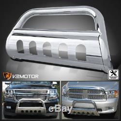 For 2007-2020 Chevy Suburban Tahoe Silverado S/S Bumper Grille Guard Bull Bar