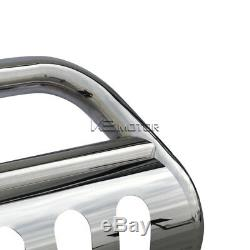 For 2007-2020 Chevy Suburban Tahoe Silverado S/S Bumper Grille Guard Bull Bar