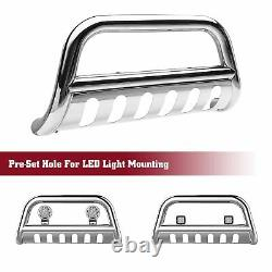 For 2019-2021 Dodge Ram 1500 3 S/S Bull Bar Brush Grille Guard Front Bumper