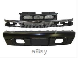 For 98-04 CHEVY S10 PICKUP 4WD FRONT BUMPER BLACK BAR VALANCE GRILLE CHR/ARGENT
