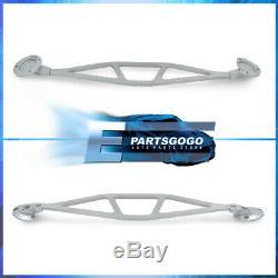 For 99-06 BMW E46 3-Series M3 Front Upper Aluminum Wide Strut Bar Brace Tie Rod