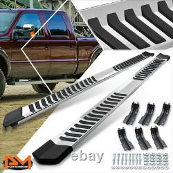 For 99-16 Ford F250/F350 SD SuperCrew Cab 6 Step Nerf Bar Running Board Chrome