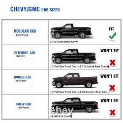 For 99-18 Chevy Silverado Regular Cab 4 Running Board Side Step Oval Nerf Bar