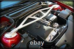 For BMW E46 3 Series M3 98-07 Silver Aluminum Front Upper Strut Tower Bar Brace