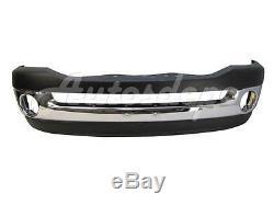 Front Bumper Chrome BAR Upper Pad Lower Air Dam For 2006-2008 Dodge Ram Pickup