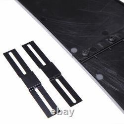 Front Bumper Lip Splitter Spoiler + Strut Rods Bar For 328i 335i E90 E60 X5
