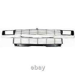 Grille 95-25 For Chevy Astro Silver withChrome Center Bar withComposite Headlight