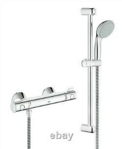Grohe Shower Mixer Bar Grohtherm G800 EV Thermostatic + Tempesta Riser Rail Kit