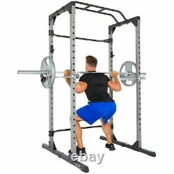 Heavy Duty Power Cage Squat Rack with Pullup Bar + Safety Bars FAST SHIPPING