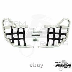 Honda TRX 300EX 300X Nerf Bars Alba Racing Silver Blk 256 T1 SB