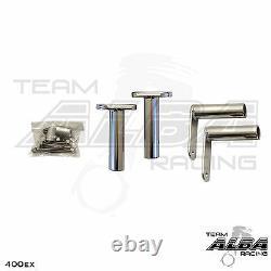 Honda TRX 400EX Nerf Bars Pro Peg Alba Racing Silver Black 211 T7 SB