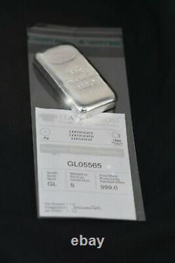 Italpreziosi Italian 5 oz. 999 Fine Silver Bar Ingot NEW! (withAssay)