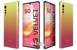 LG Velvet 5G LMG900UM1 128GB GSM Unlocked Illusion Sunset Pink. New