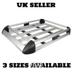 Large Silver Aluminium Roof Rack Basket Tray Luggage Cargo Carrier with Bars XL