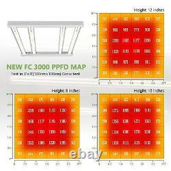 Mars Hydro FC 3000 LED Grow Light Bar SamsungLM301B Veg Flowers UV IR for Plants