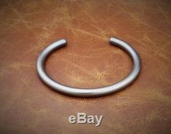 Men's Gents Solid 925 Silver Heavy Oxidised Silver Open Torque Bangle Bracelet