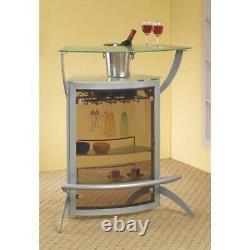 Metal Wine Bar 2 Piece Curved Foot Rail Stemware Storage Home Dining Furniture