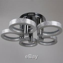 Modern LED Acrylic Chandeliers Flush Mount Ceiling Light Living Room Study Lamp