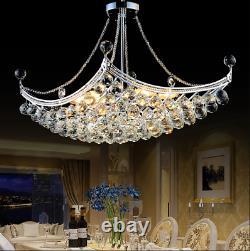 Modern Luxury K9 Crystal Chandelier LED Hanging Pendant Lamp Ceiling Fixture
