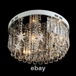 Modern Moon Star Crystal Round Led Light Ceiling Lamp Chandelier Lighting