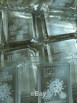 NEW 10 oz Envela 999 Silver Bar 2020 Pandemic Bars(Sealed) JUST IN