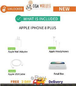 NEW Apple iPhone 8 Plus 64GB 128GB 256GBUnlocked AT&TVerizon TMobile