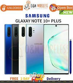 NEW Samsung Galaxy NOTE 10+ Plus 256GB 512GB (SM-N975U1, Unlocked) All Colors