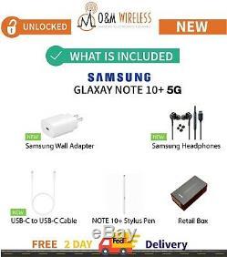 NEW Samsung Galaxy NOTE 10+ Plus 5G 256 512GB GSM UnlockedAT&TVerizonTMobile