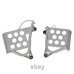 NEW Silver Heel Guards footrest For Yamaha Banshee Left + Right Nerf Bars