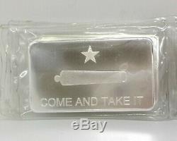 New 10 Oz. 999 Fine Silver Dgse Come And Take It Bars New In Plastic