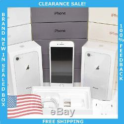 New Apple iPhone 8 64gb Silver Unlocked GSM (A1905) in Sealed Box Clearance Sale