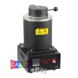 New Automatic Melting Furnace Melt 2kg Silver & Gold Pour Bar Digital Controller