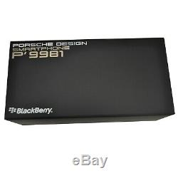 New BlackBerry Porsche Design P'9981/P9981 QWERTY+Arabic Silver Unlocked SIMFree