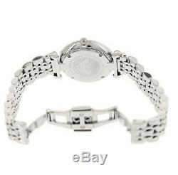 New Genuine Emporio Armani Ar1779 Ladies Gianni T-bar Silver Pink Watch Uk