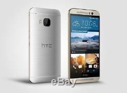 New HTC One M9 AT&T Unlocked 4G LTE 32GB 5 Android Smartphone Gold on Silver
