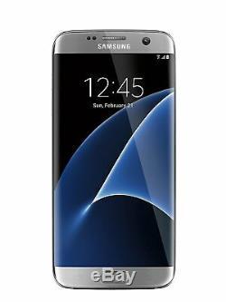 New Overstock Samsung Galaxy S7 edge SM-G935V 32GB Silver Titanium Verizon Phone