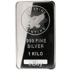 ON SALE! 1 Kilo Sunshine Silver Bar (New, MintMark SI)