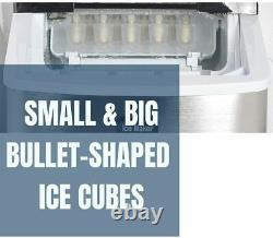 Portable Countertop Ice Maker Compact Ice Cube Machine Home Bar Dorm 26lbs/day