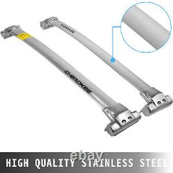 Roof Rack Cross Bar for 2011-2019 JEEP Grand Cherokee Smooth Stainless Steel
