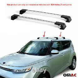 Roof Rack Cross Bars Luggage Carrier 2 Pcs. Silver Set for Kia Soul 2020-2021