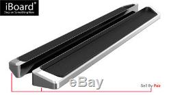 Running Board Style Side Step 6in Silver Fit Chevrolet Traverse GMC Acadia 09-17
