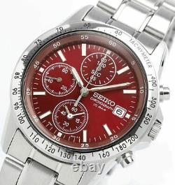 SEIKO SEIKO SPIRIT SBTQ045 Chronograph Men's Watch 10 BAR Red New in Box