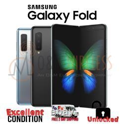 Samsung Galaxy FOLD 512GB Black Silver UnlockedAT&TVerizonT-MobileExcellent
