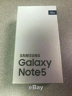 Samsung Galaxy Note 5 32GB (Unlocked) 5.7 Silver Black White Gold New