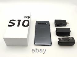 Samsung Galaxy S10 5G 256GB Majestic Black Crown Silver (Verizon) New Unused