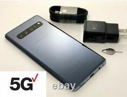 Samsung Galaxy S10 5g Sm-g977u 256gb Silver Verizon Unlocked At&t Fedex 2 Day